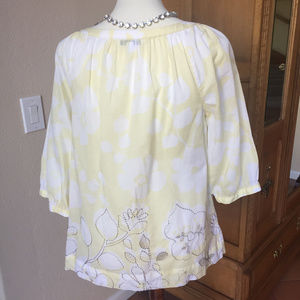 CAbi Tops - CAbi Yellow Songwriter Embroidered #362 Blouse